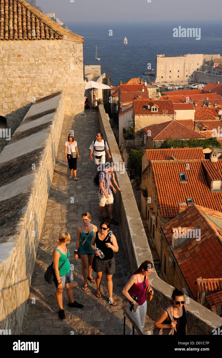Croatie, Dubrovnik, les murs Photo Stock