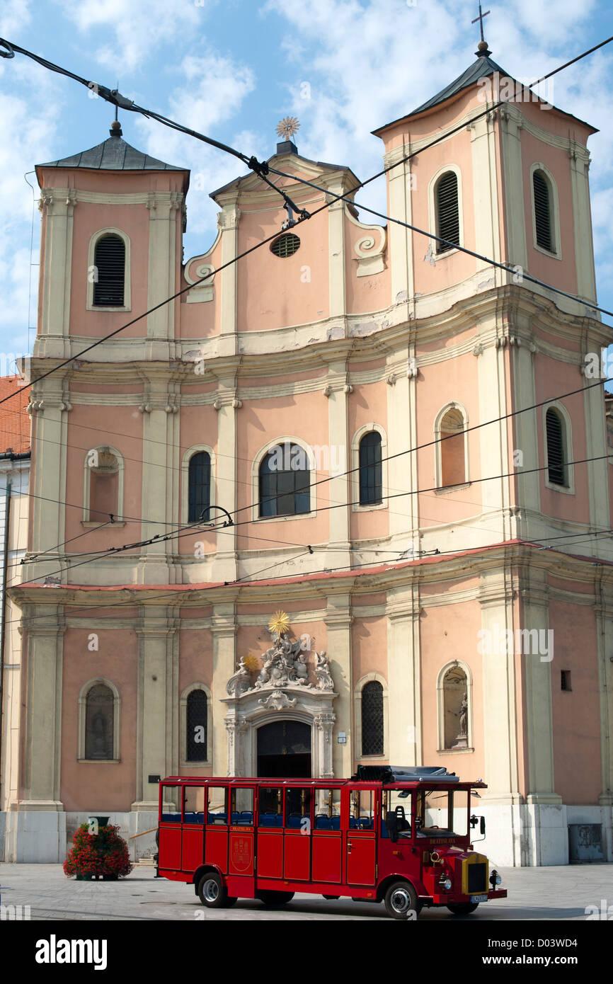 Église de la Sainte Trinité à Bratislava, la capitale de la Slovaquie. Photo Stock