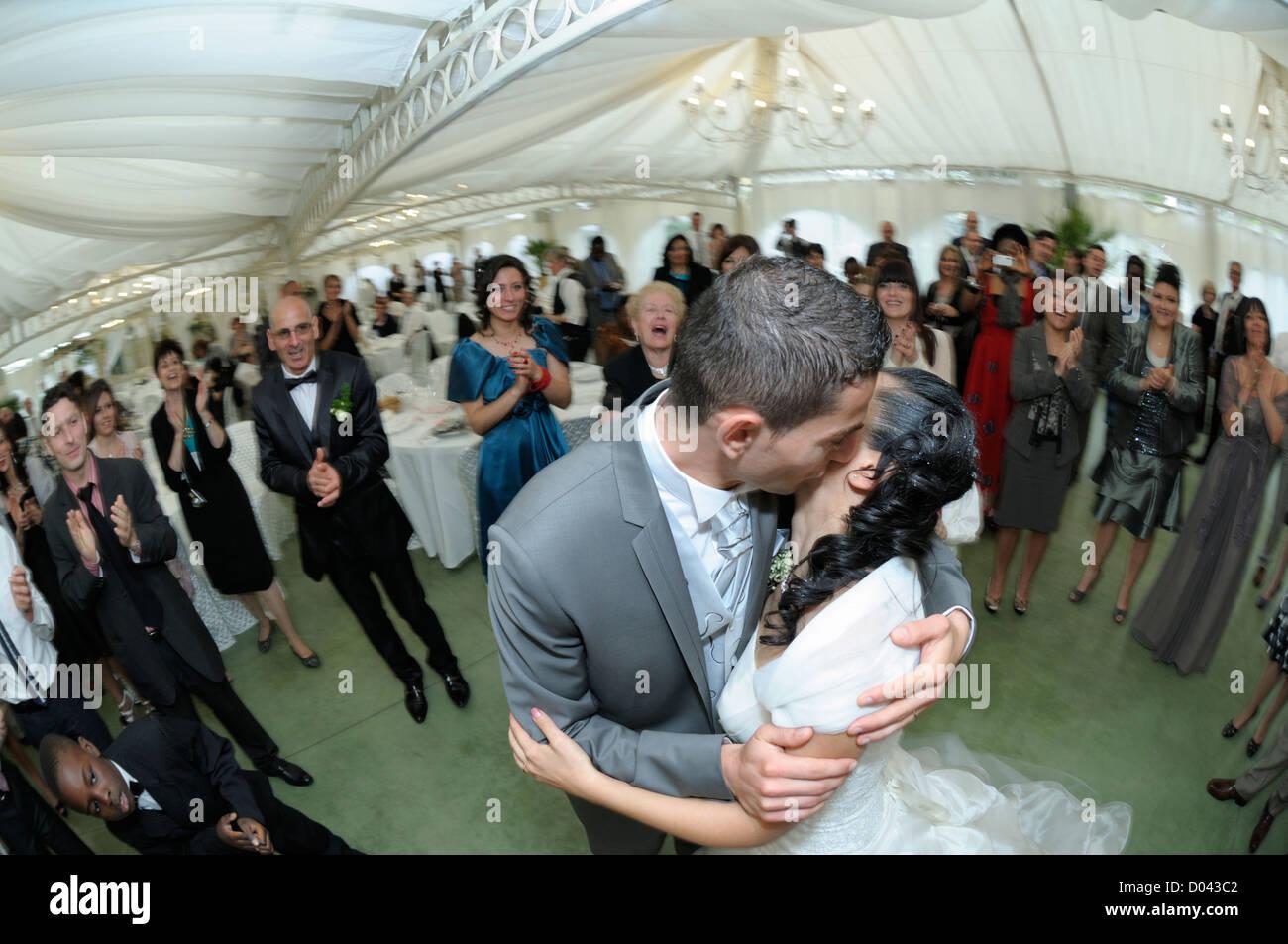 Fête de mariage, Florence, Toscane, Italie Photo Stock