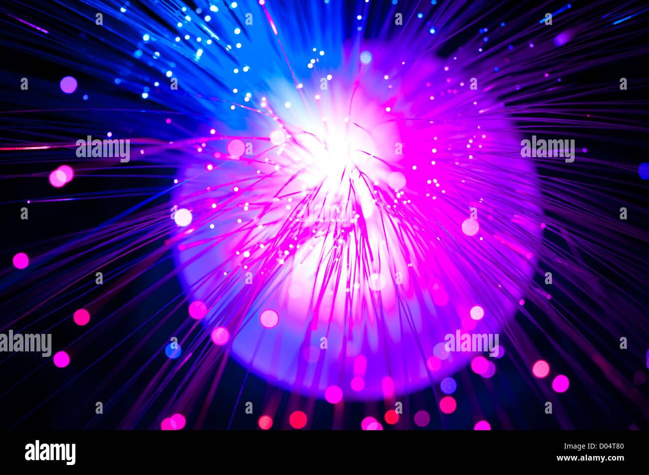Arrière-plan de fibres optiques Photo Stock