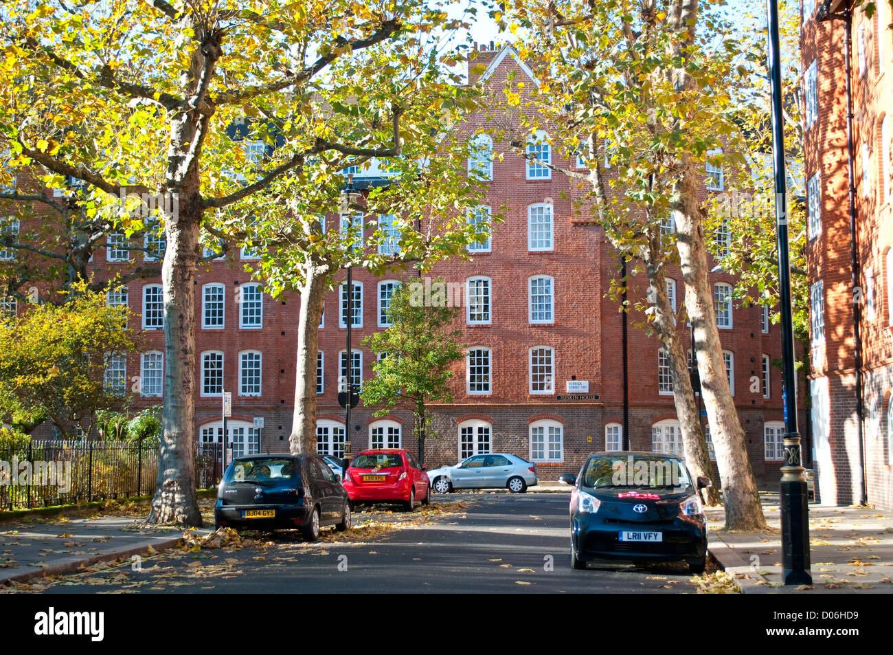 Logements sociaux, Herrick Street, SW1, City of Westminster, London, UK Banque D'Images