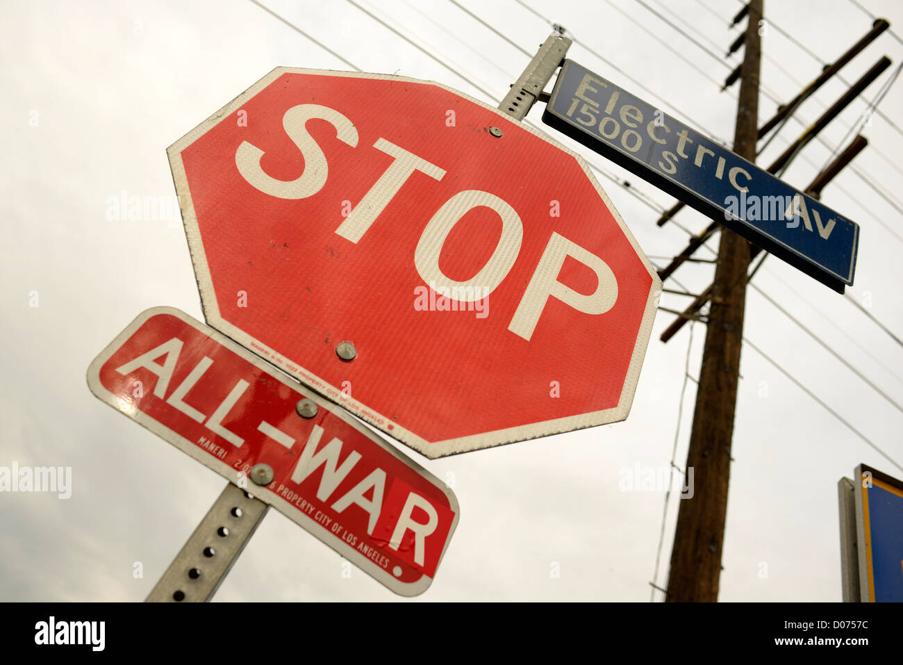 Guerres stop sign los angeles Photo Stock