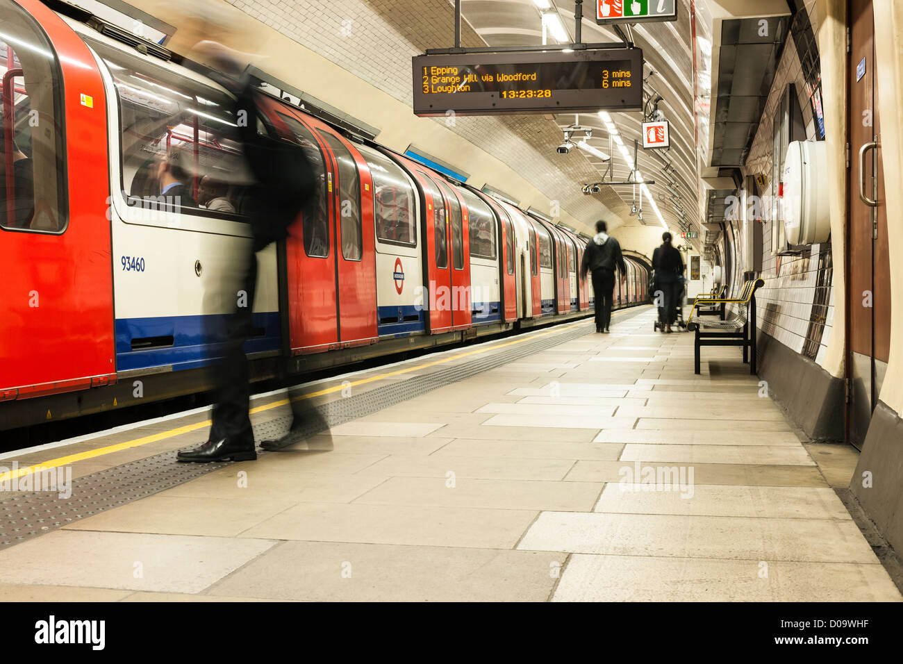 La station de métro de Londres Photo Stock