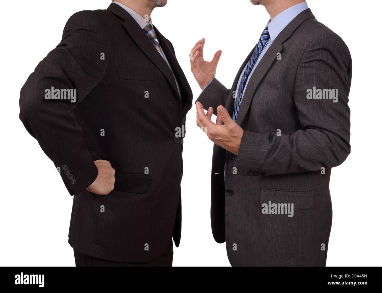 La confrontation au travail Banque D'Images