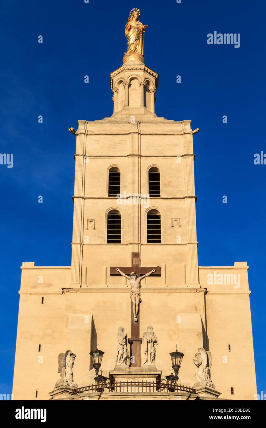 Avignon - Notre Dames des dômes église près de Palais Papal, Provence, France Photo Stock