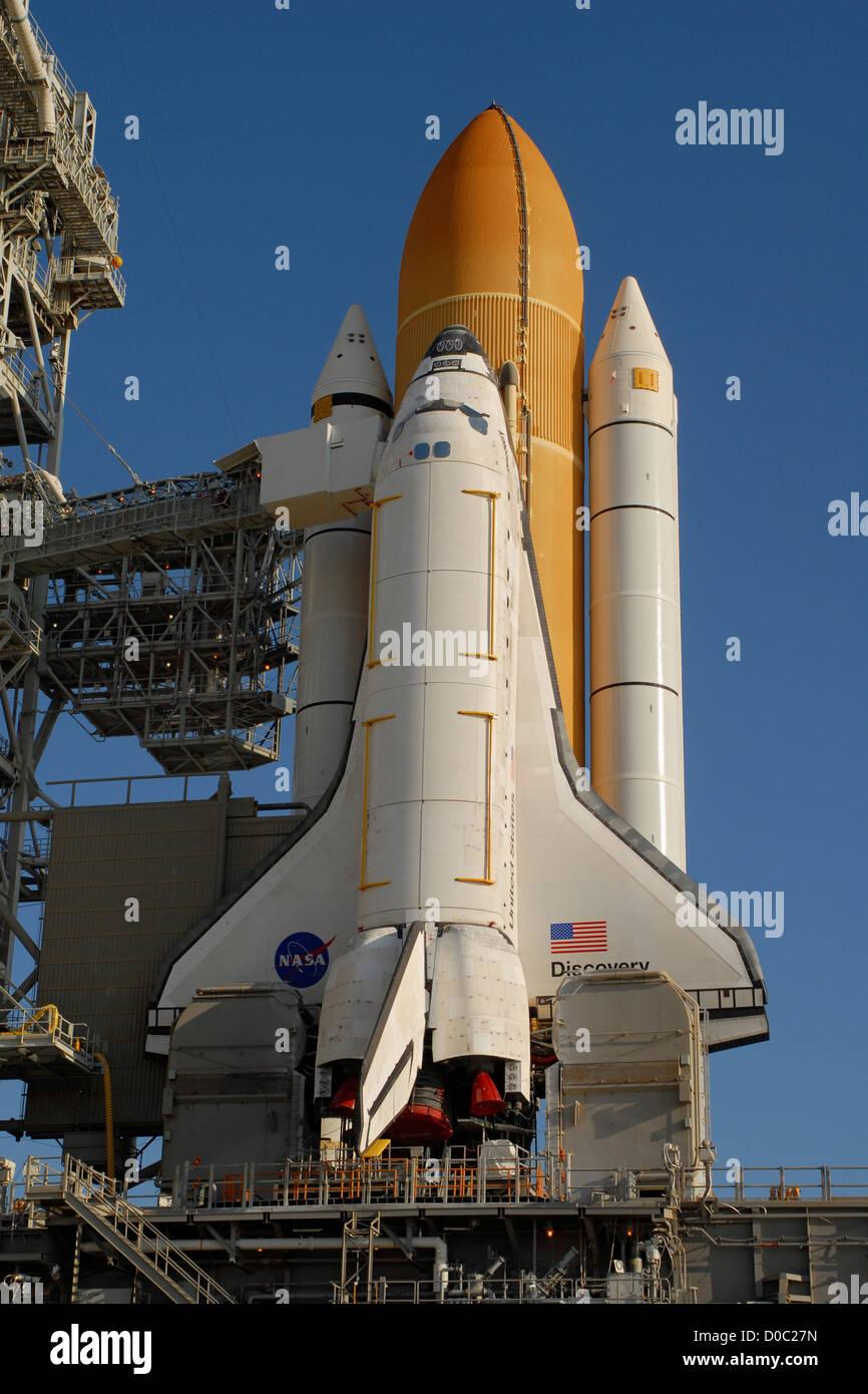 Charge utile de la mission STS-131 installé dans la découverte Photo Stock