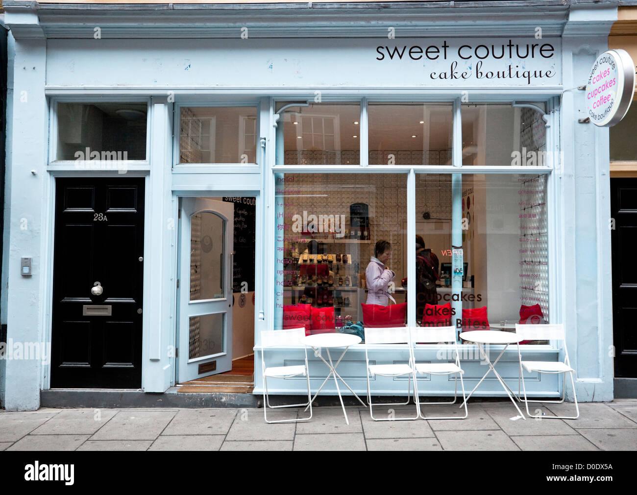 Gâteau sucré Couture Boutique, London, England, UK Photo Stock