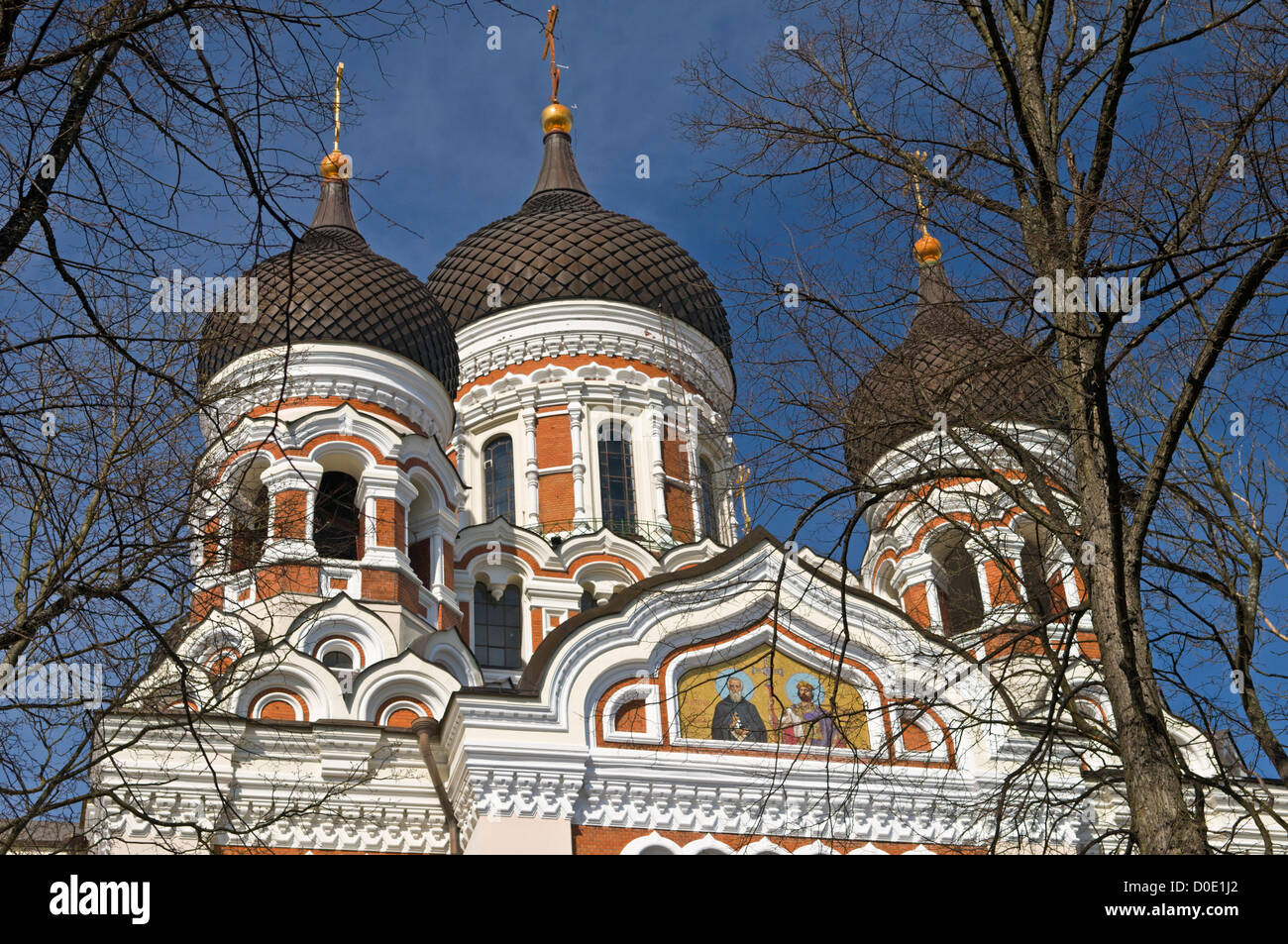 Cathédrale Alexandre Nevski Estonie Tallinn Toompea Banque D'Images