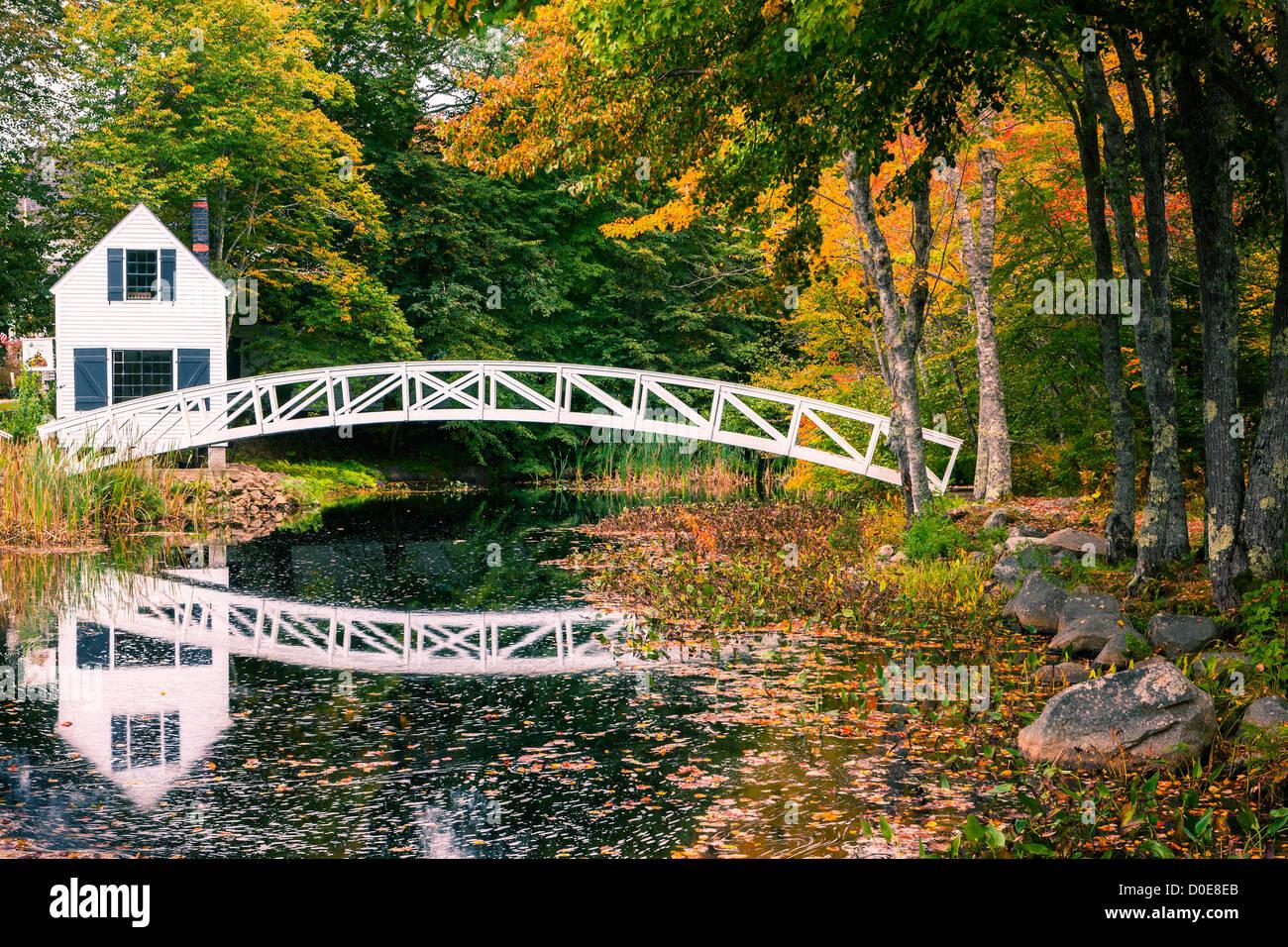 Somesville bridge en Acadie N.P, Maine, USA Photo Stock