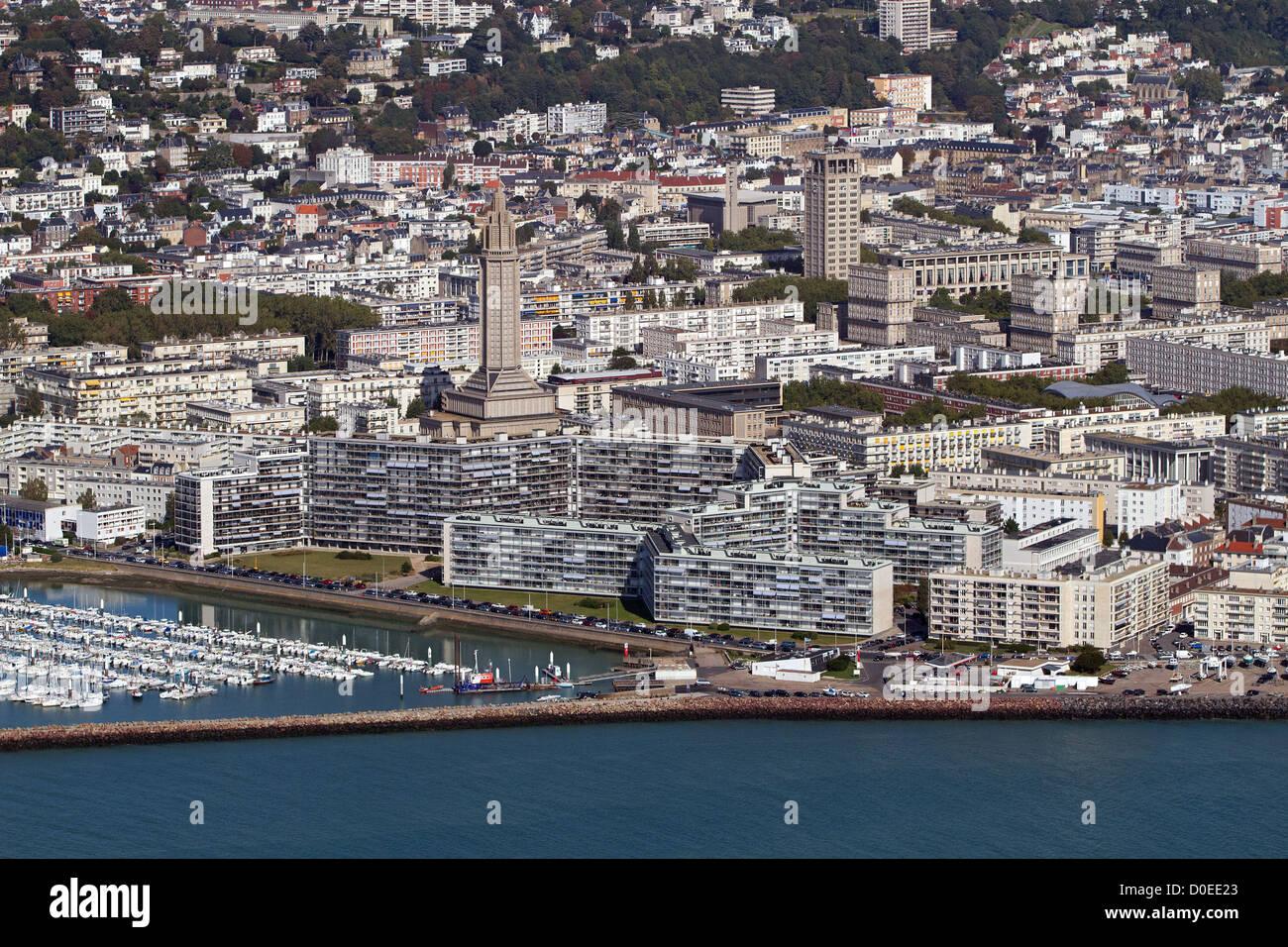 Port de plaisance DE LA VILLE DU HAVRE ET DE L'ARCHITECTURE D'Auguste Perret Seine-maritime (76) FRANCE Banque D'Images