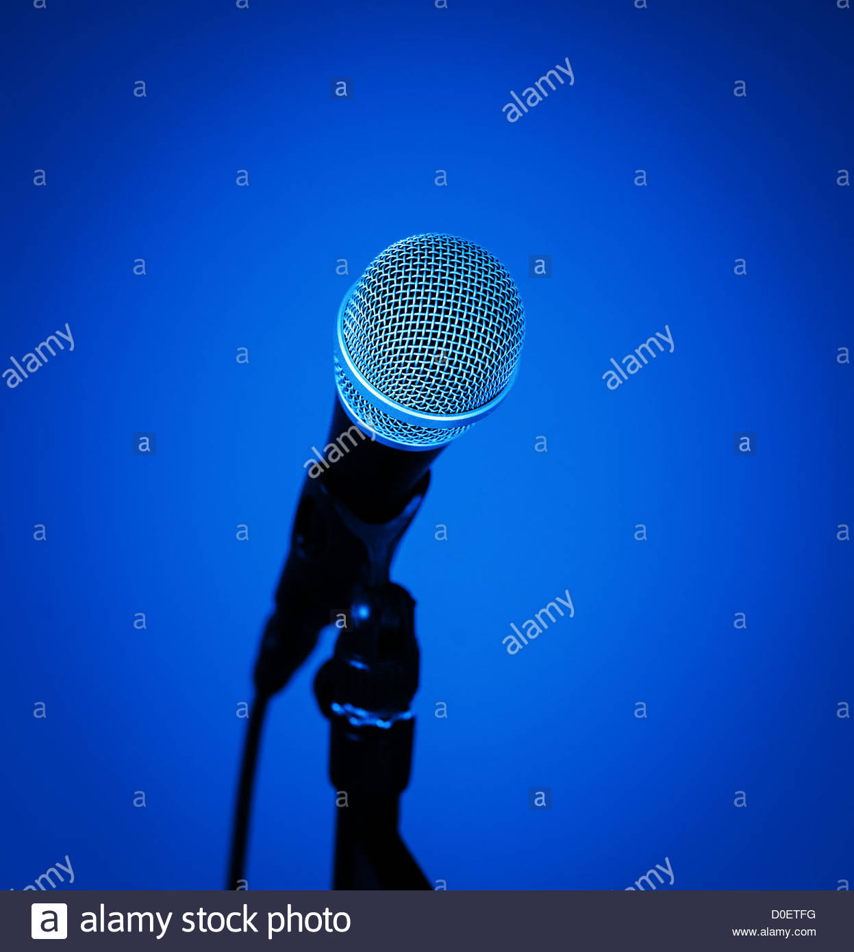 Microphone close up Photo Stock