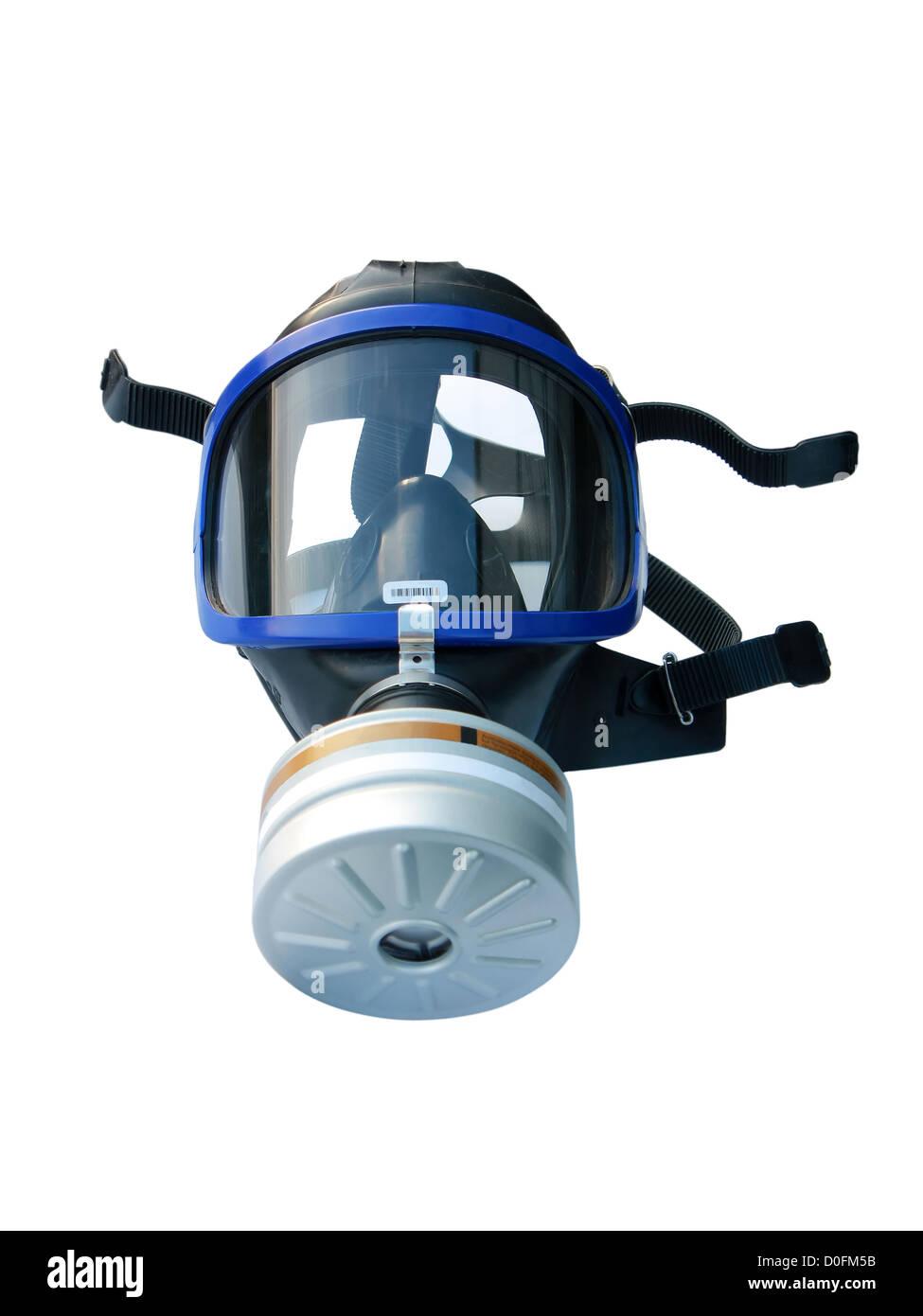 Masque à gaz isolé sur blanc, with clipping path Banque D'Images