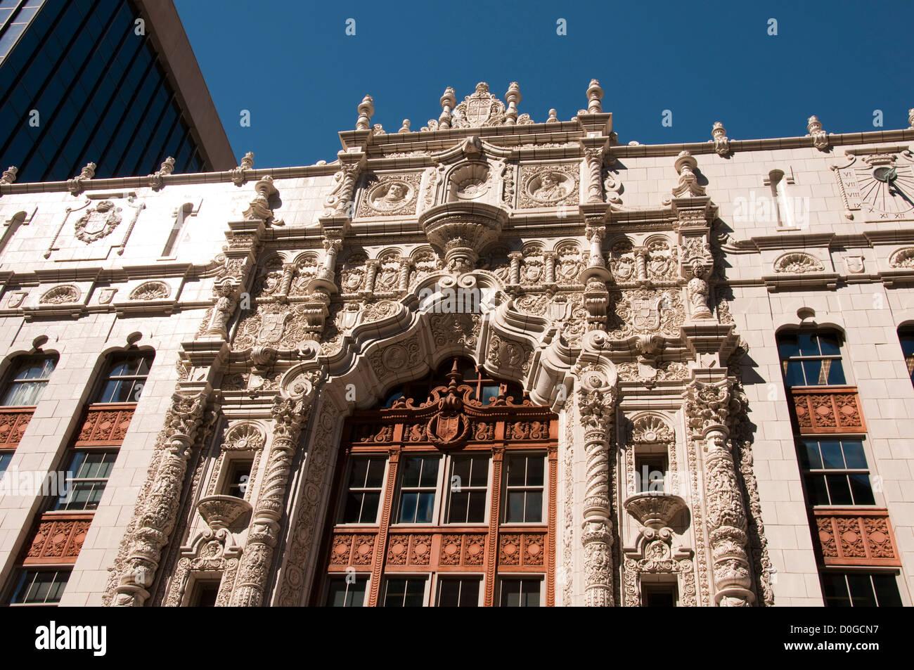 USA (Indiana), l'architecture du centre-ville d'Indianapolis. Photo Stock