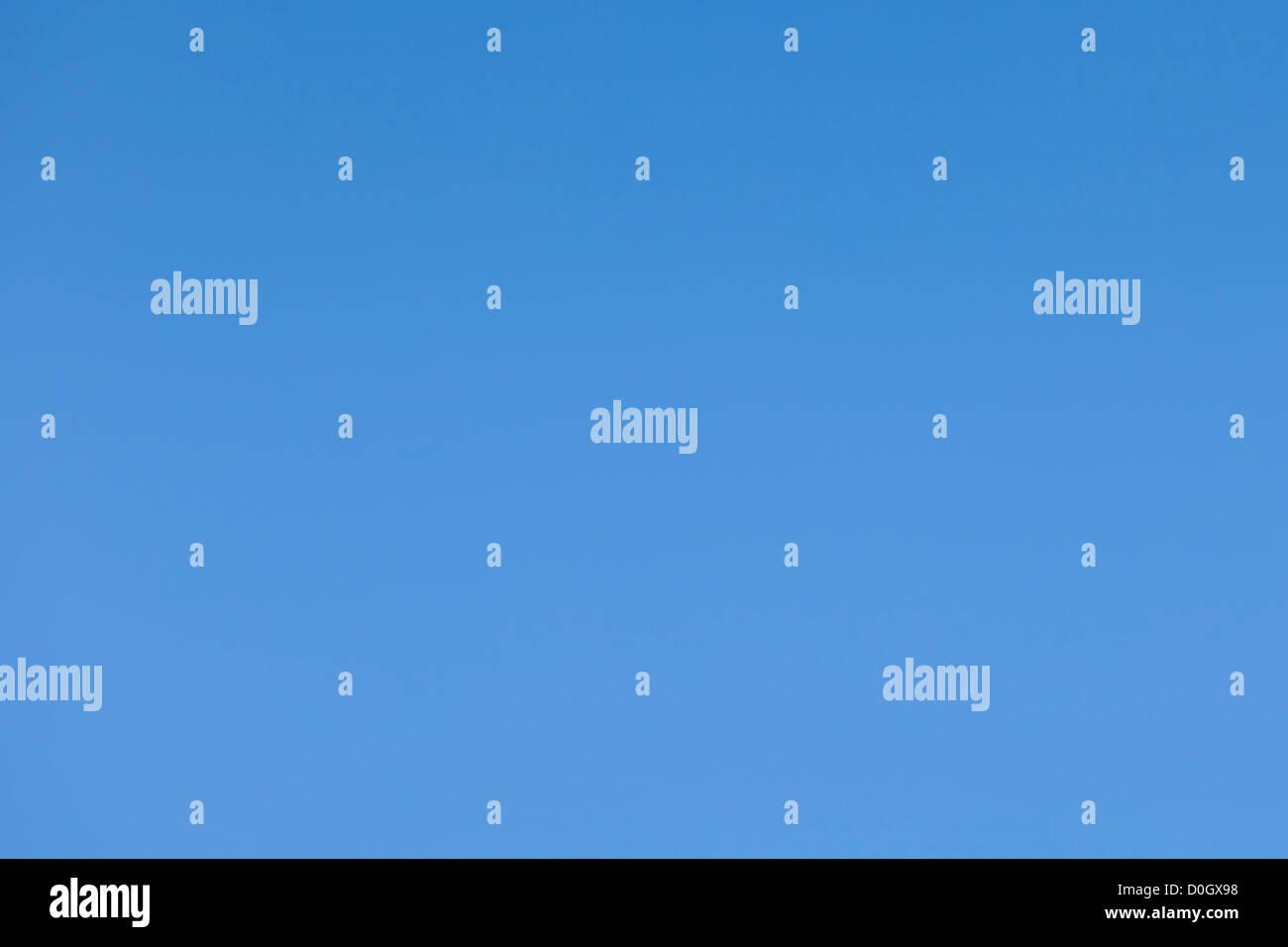 Fond de ciel sans nuages, Bleu clair Photo Stock