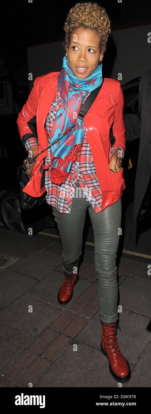 Kelis arrivant à son hôtel à Londres, Angleterre - 30.09.10 Photo Stock