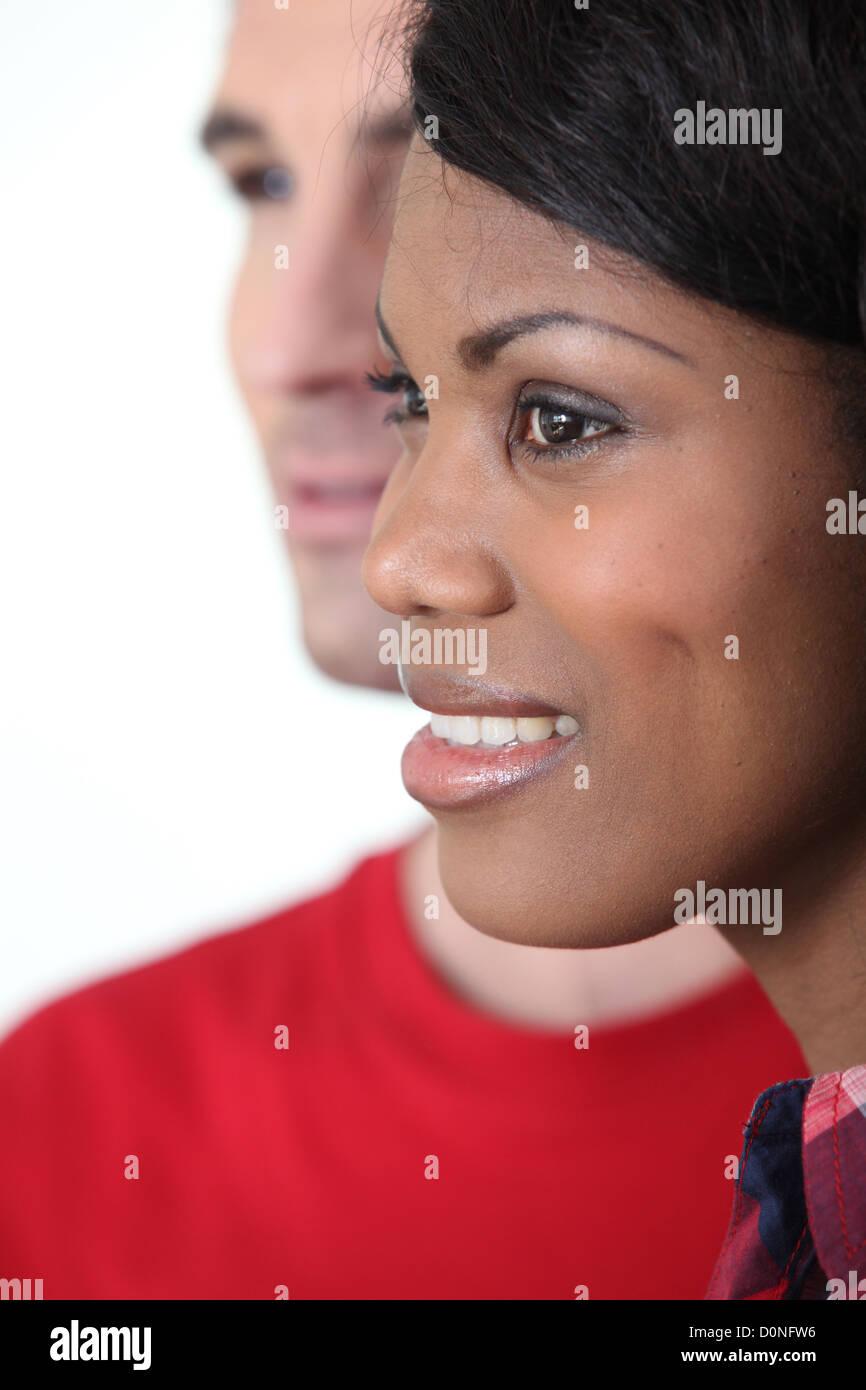 Un couple interracial Photo Stock