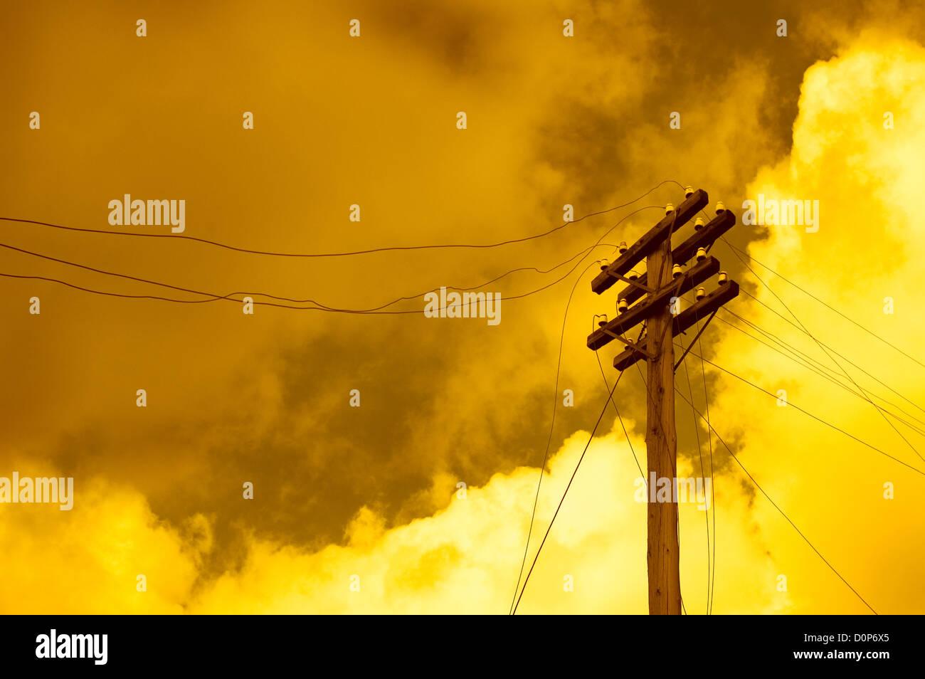 poteau télégraphique Photo Stock