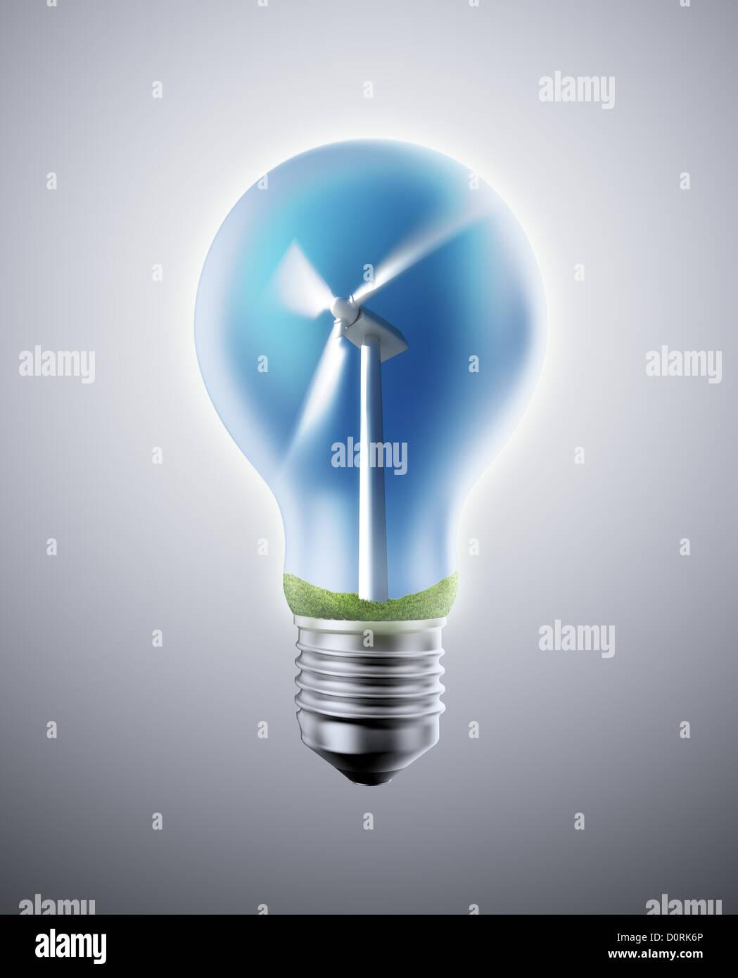 Concept d'énergie éolienne Photo Stock