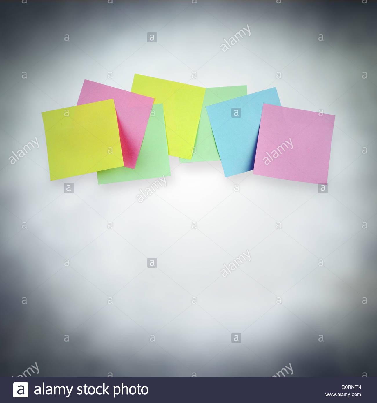 Rappelez-moi notes Photo Stock