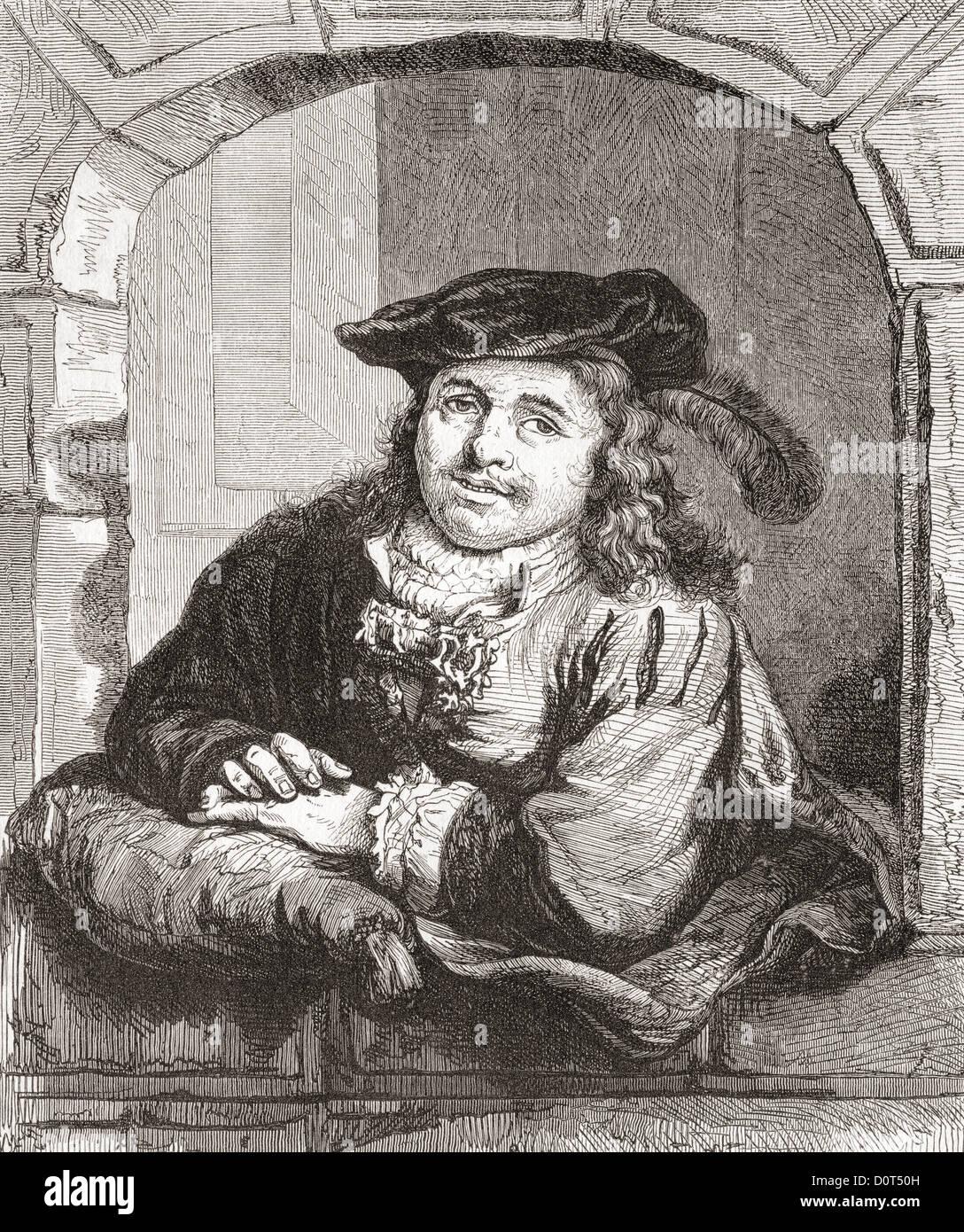 Ferdinand Bol, 1616 -1680. L'artiste néerlandais, graveur et dessinateur. Photo Stock