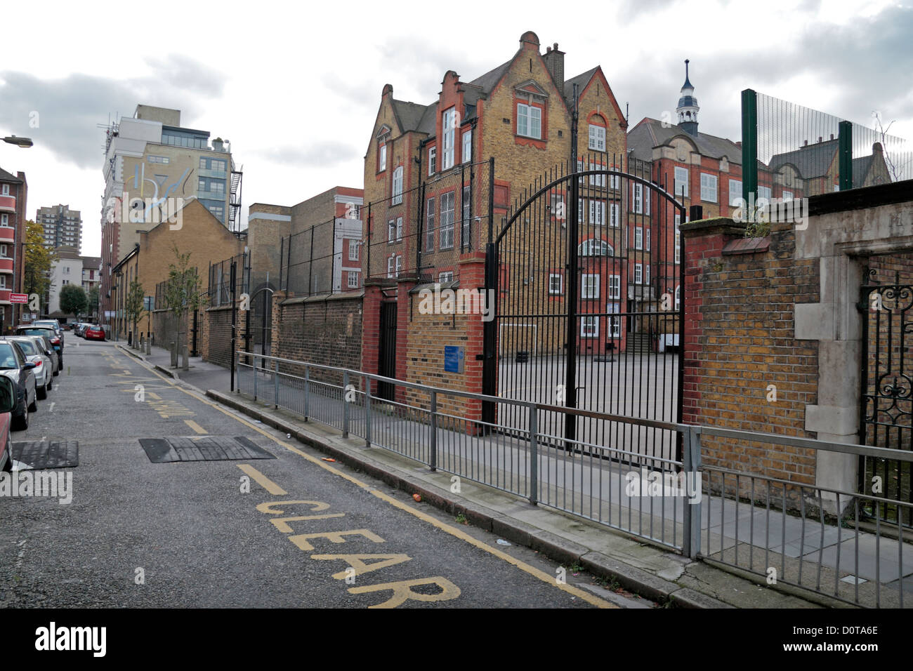 Visualiser jusqu'Henriques Street, scène de meurtre d'Elizabeth Stride, Jack l'Eventreur's Photo Stock