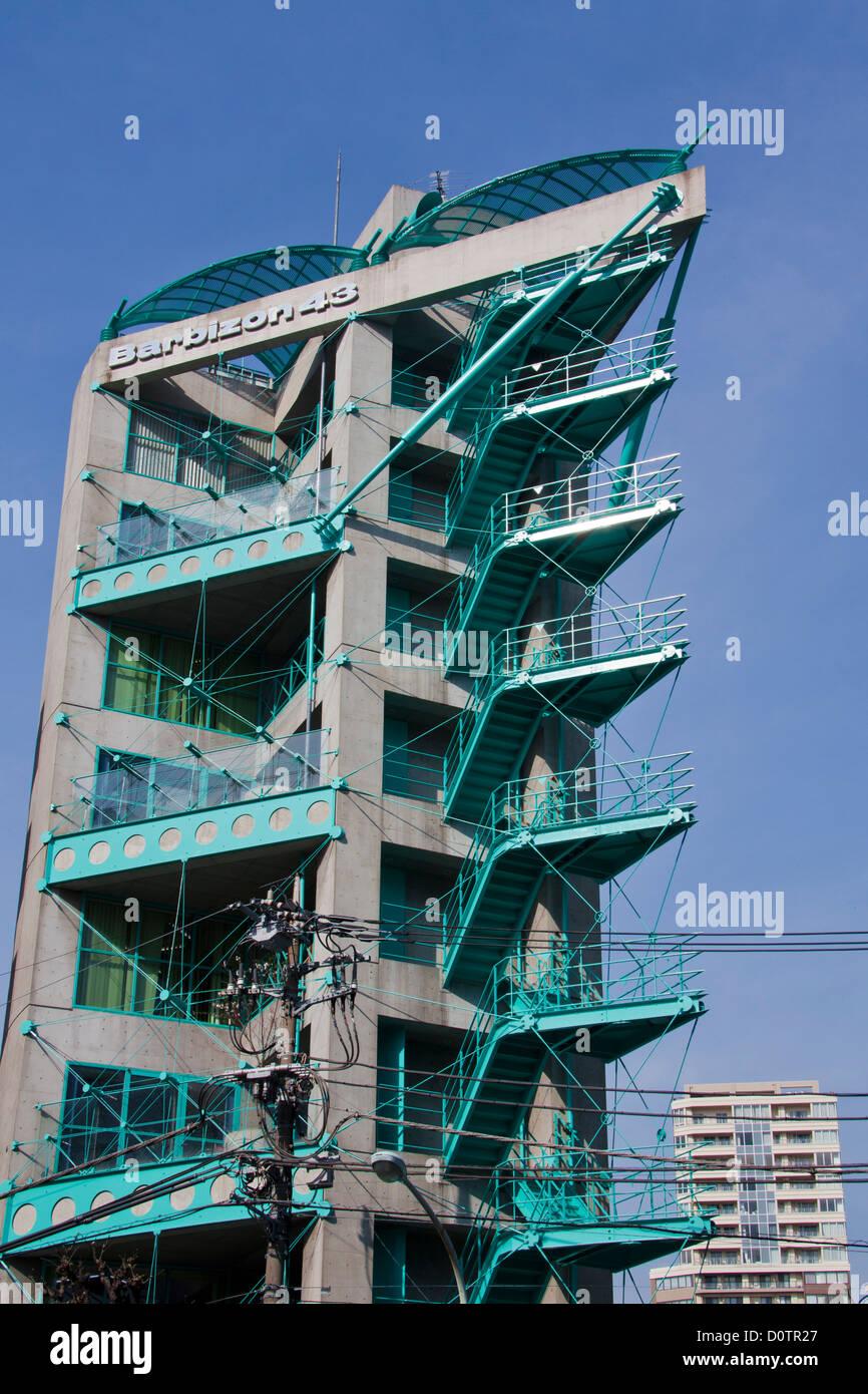 Le Japon, Asie, vacances, voyage, Tokyo, Ville, escaliers, Architecture, bâtiment, construction, l'escalier Photo Stock