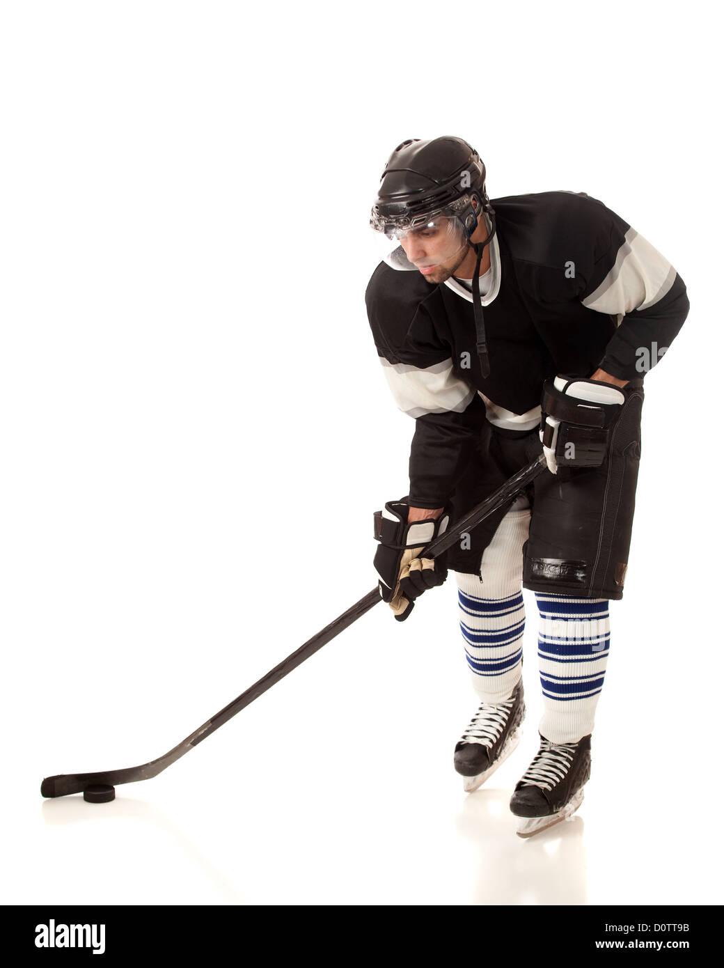 Joueur de Hockey sur glace Photo Stock