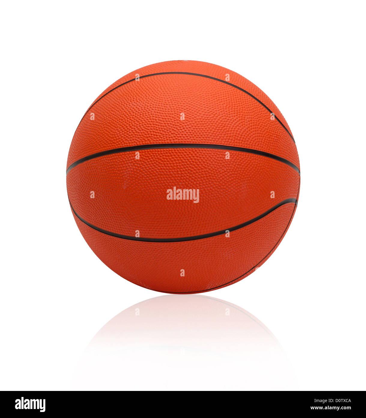 Le monde de basket-ball jeux de sports préférés isolated on white Photo Stock