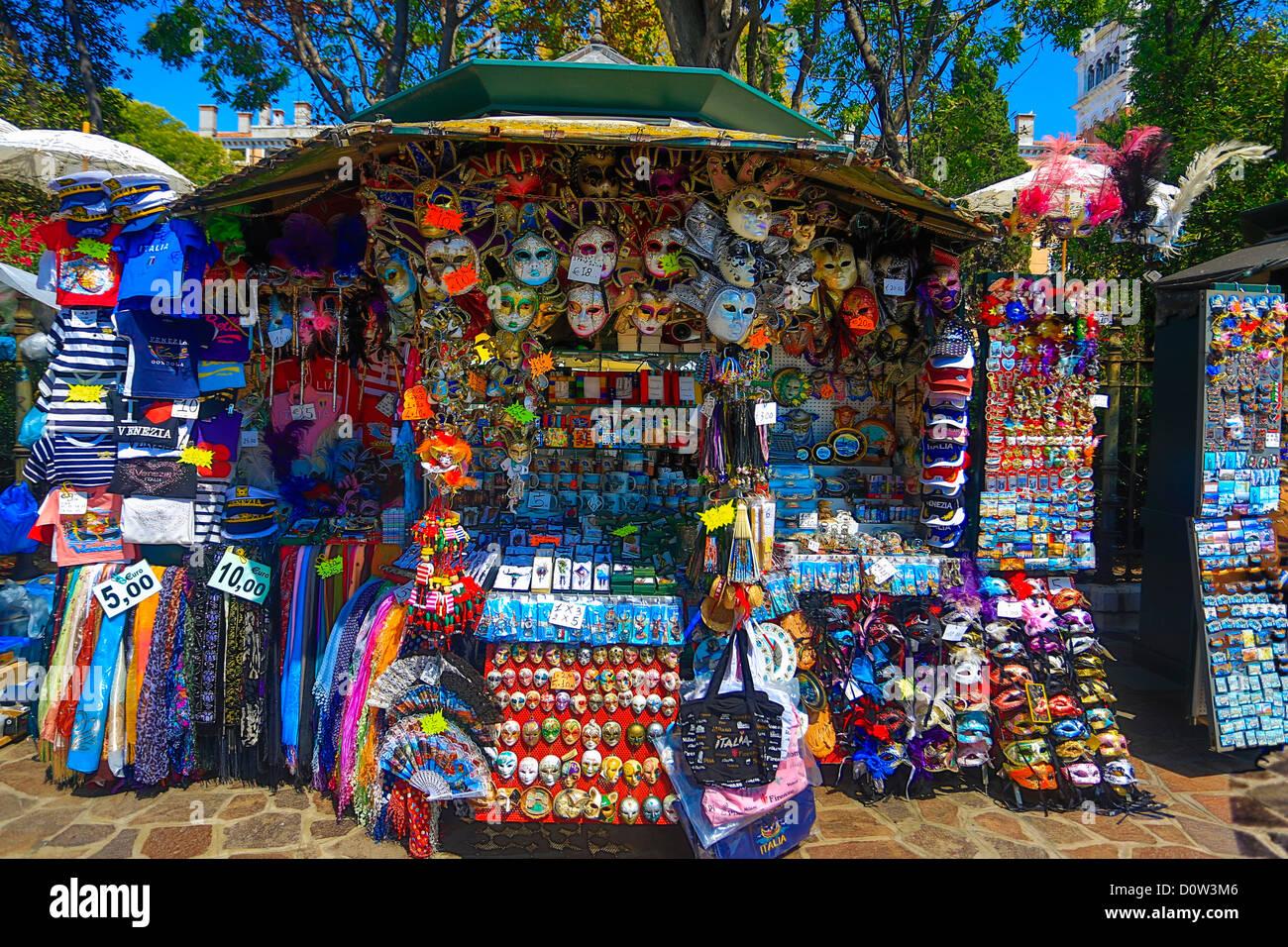 L'Italie, l'Europe, voyage, Venise, souvenirs, boutique, tourisme, Photo Stock