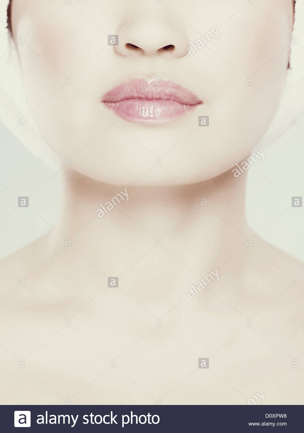 Images recadrées de womans face, Close up Photo Stock
