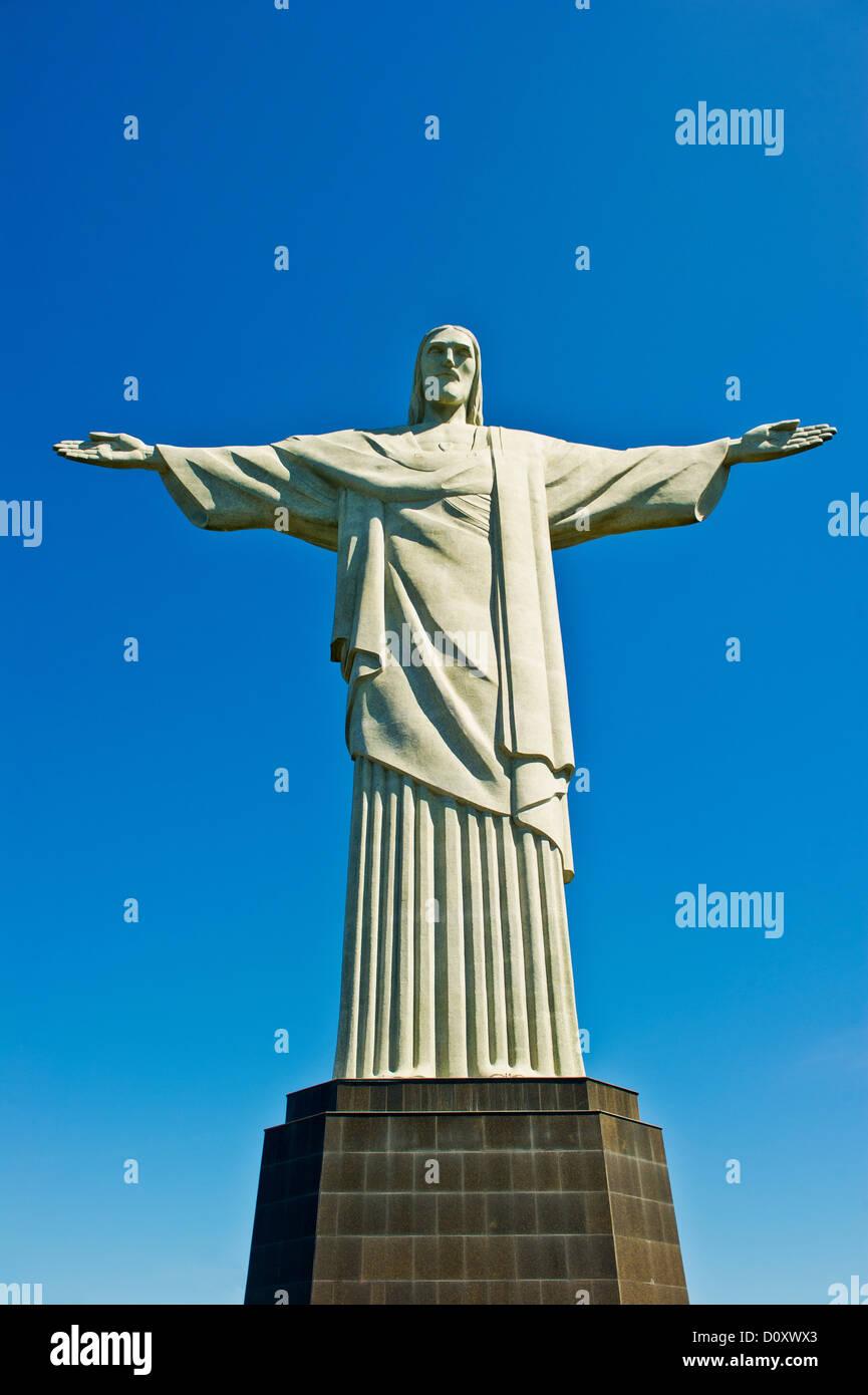 Statue du Christ Rédempteur, Rio de Janeiro, Brésil Photo Stock