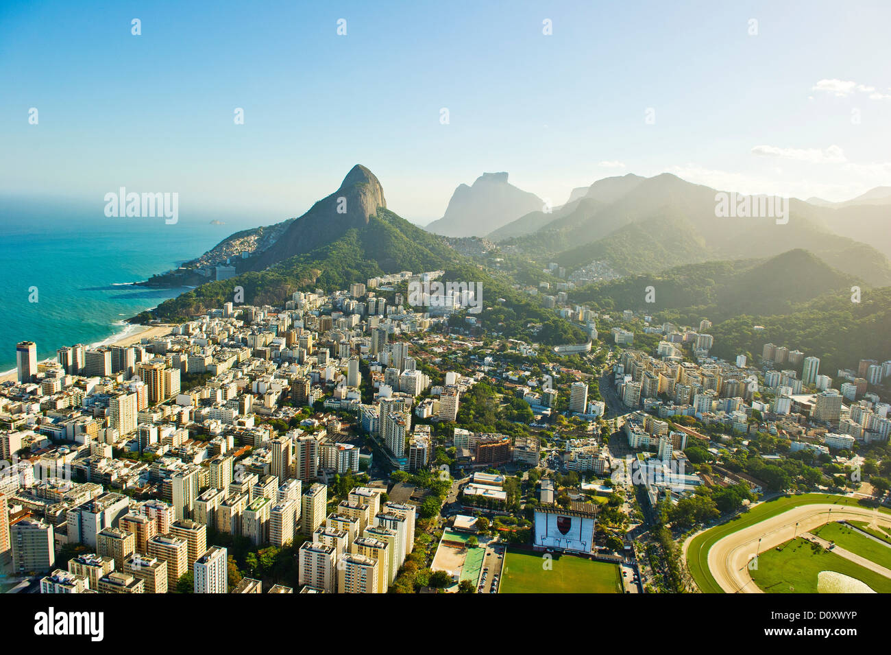 Vue aérienne de Lagoa et Ipanema, Rio de Janeiro Brésil Photo Stock