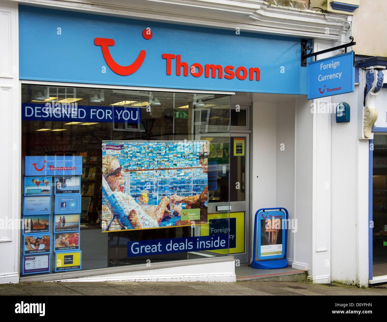 Une agence de voyage dans un thomson uk high street Photo Stock