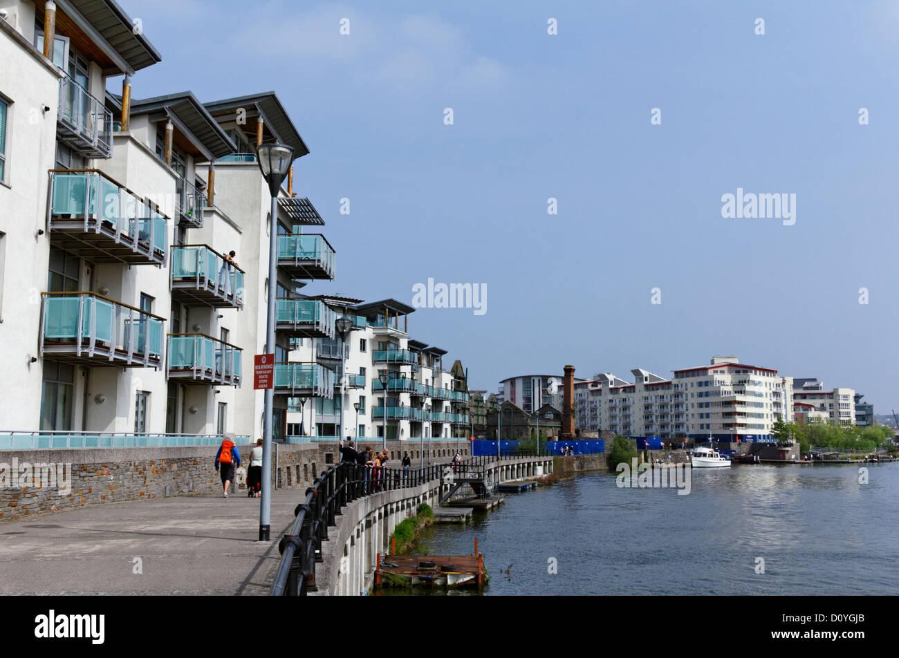 Les appartements modernes de Harborside, Bristol, Somerset Photo Stock
