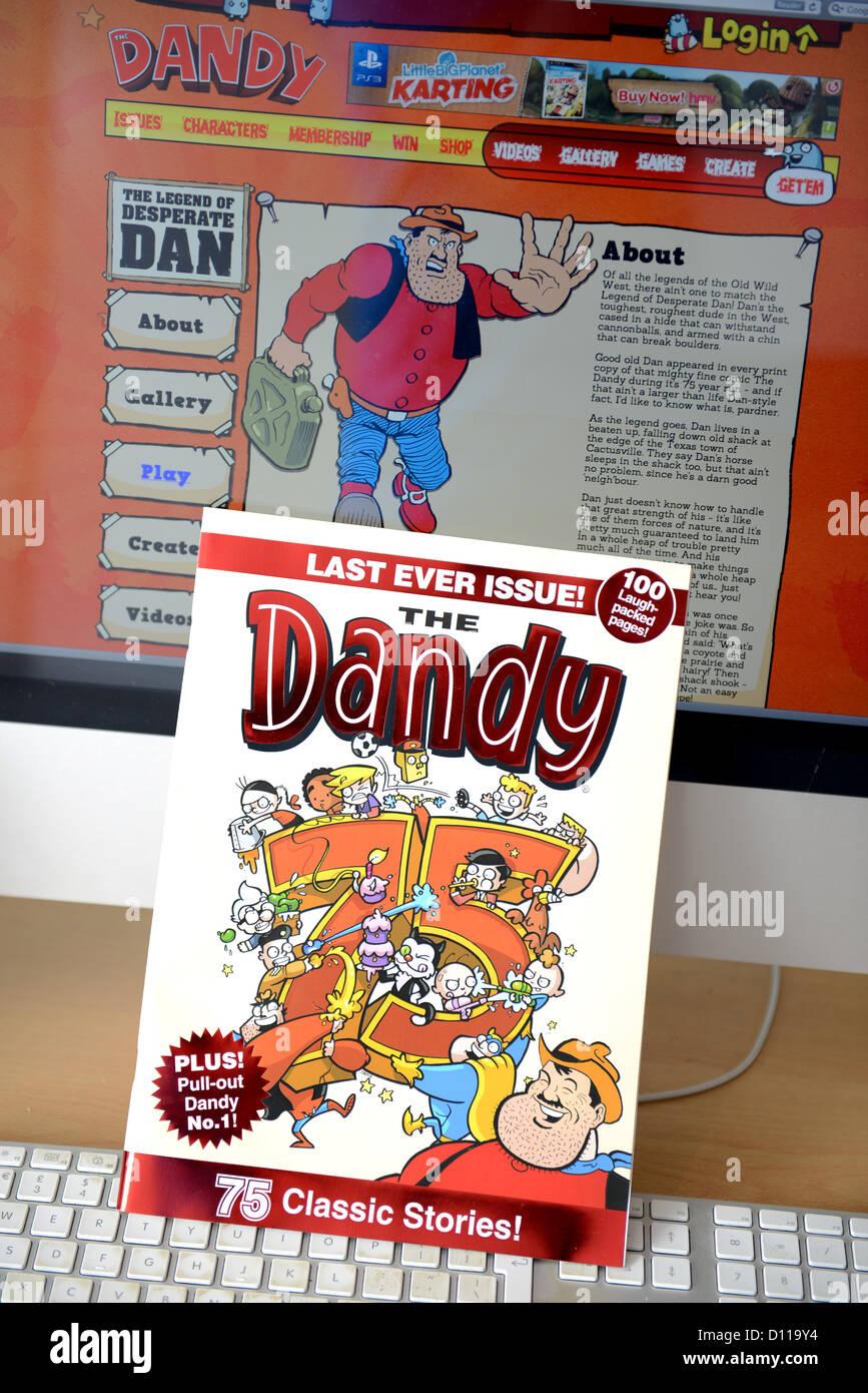 La dernière édition de l'impression jamais Dandy bande dessinée pour enfants, après 75 ans Photo Stock