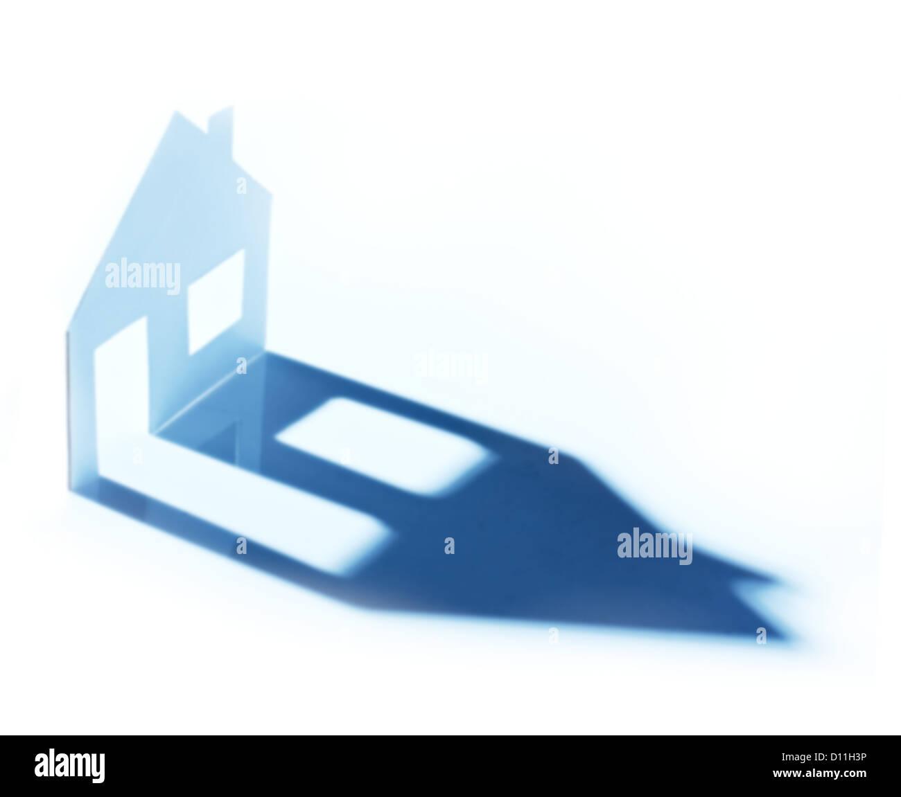 Nouvelle maison d'imagination . Photo Stock