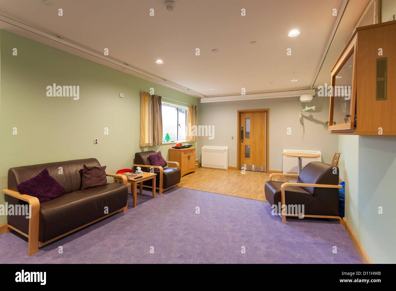 Phoenix House care home à Blandford Forum Salon des résidents Photo Stock
