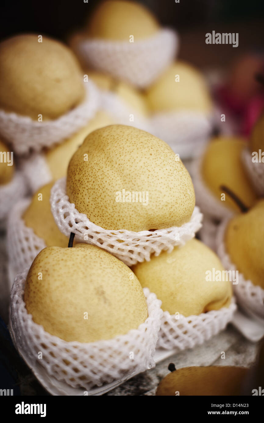 Mango for sale at market Photo Stock