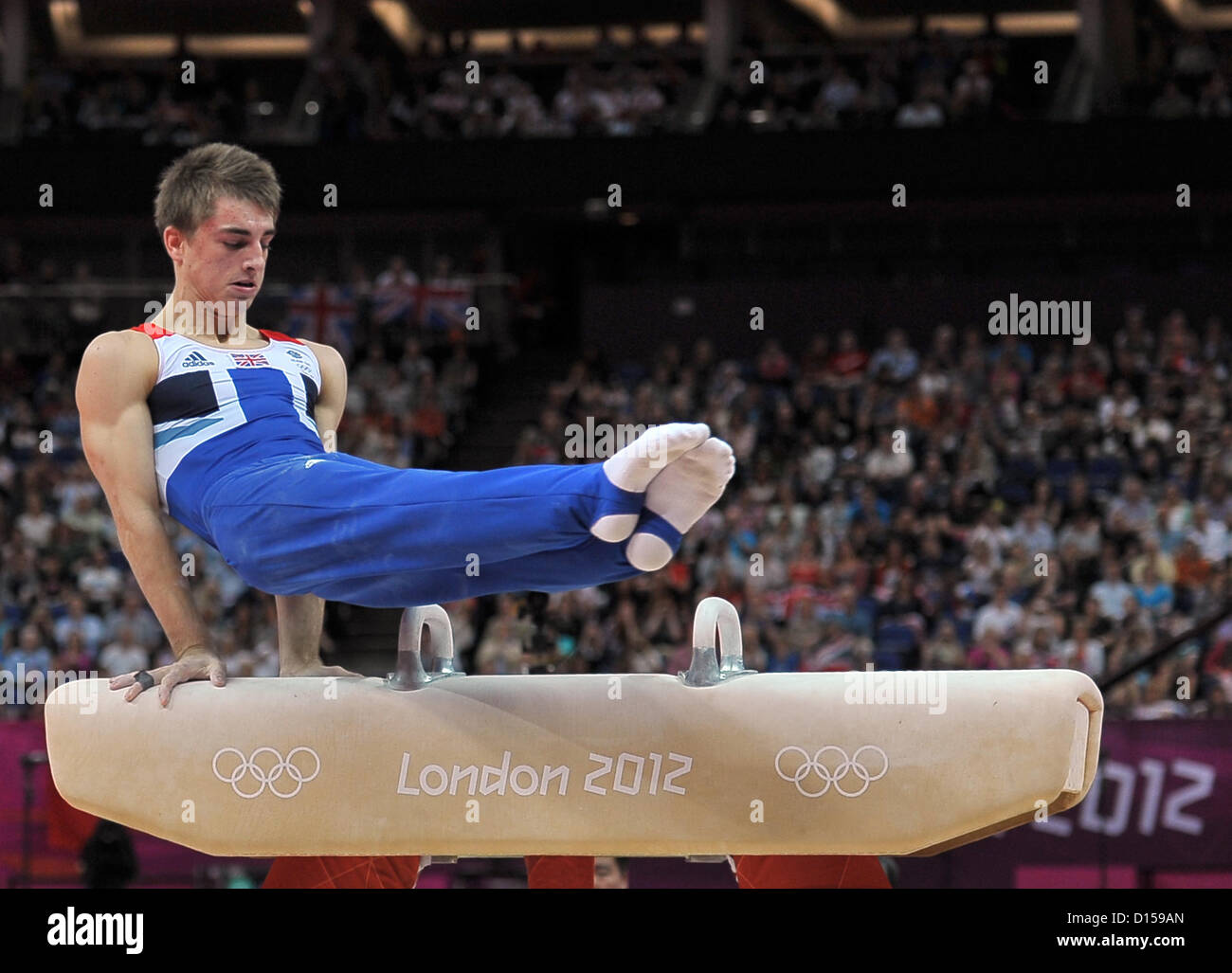 Max Whitlock (GBR, Grande-Bretagne). Gymnastique individuelle Photo Stock
