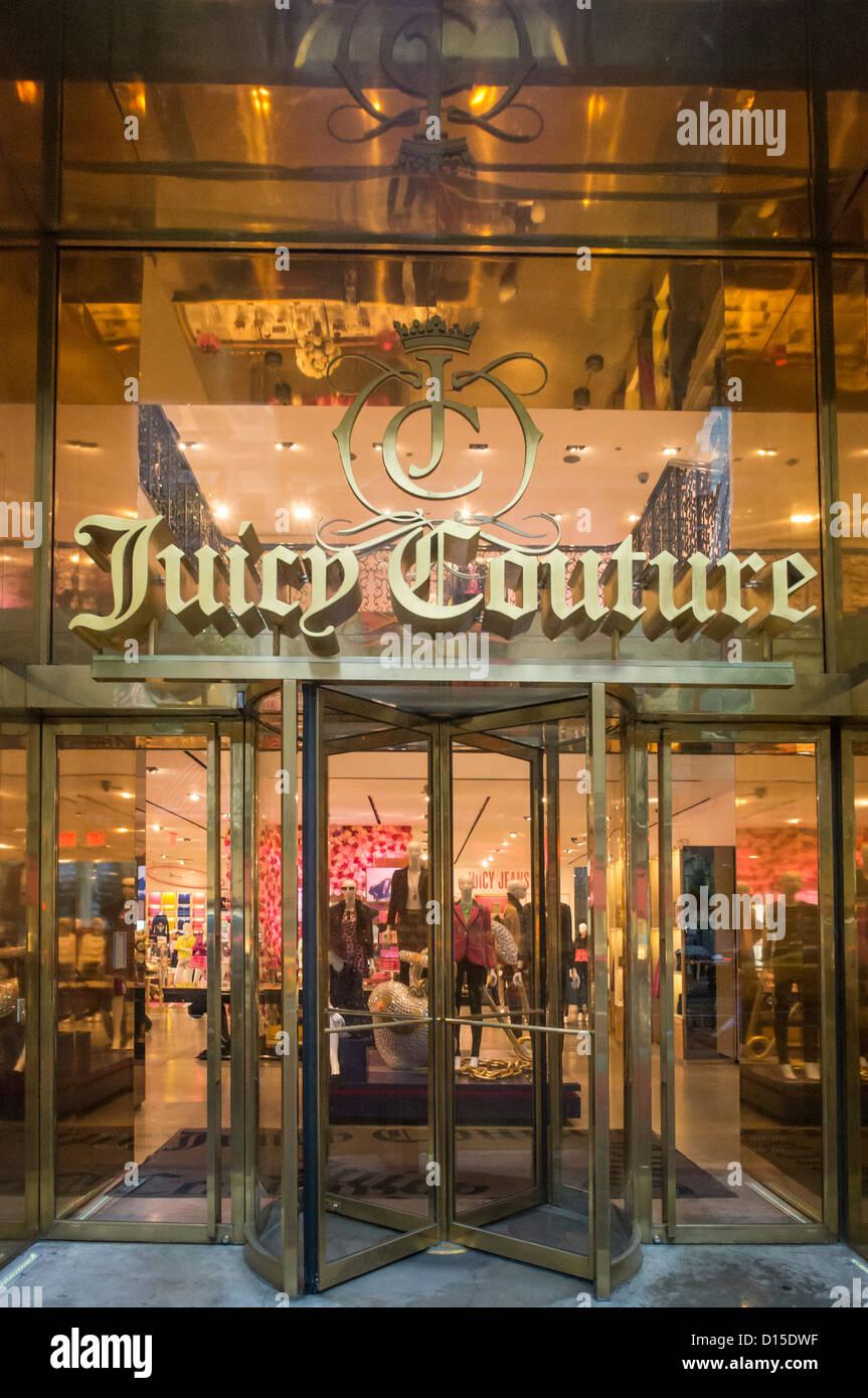 Boutique de mode Juicy Couture, la 5ème Avenue, Manhattan, New York Photo Stock