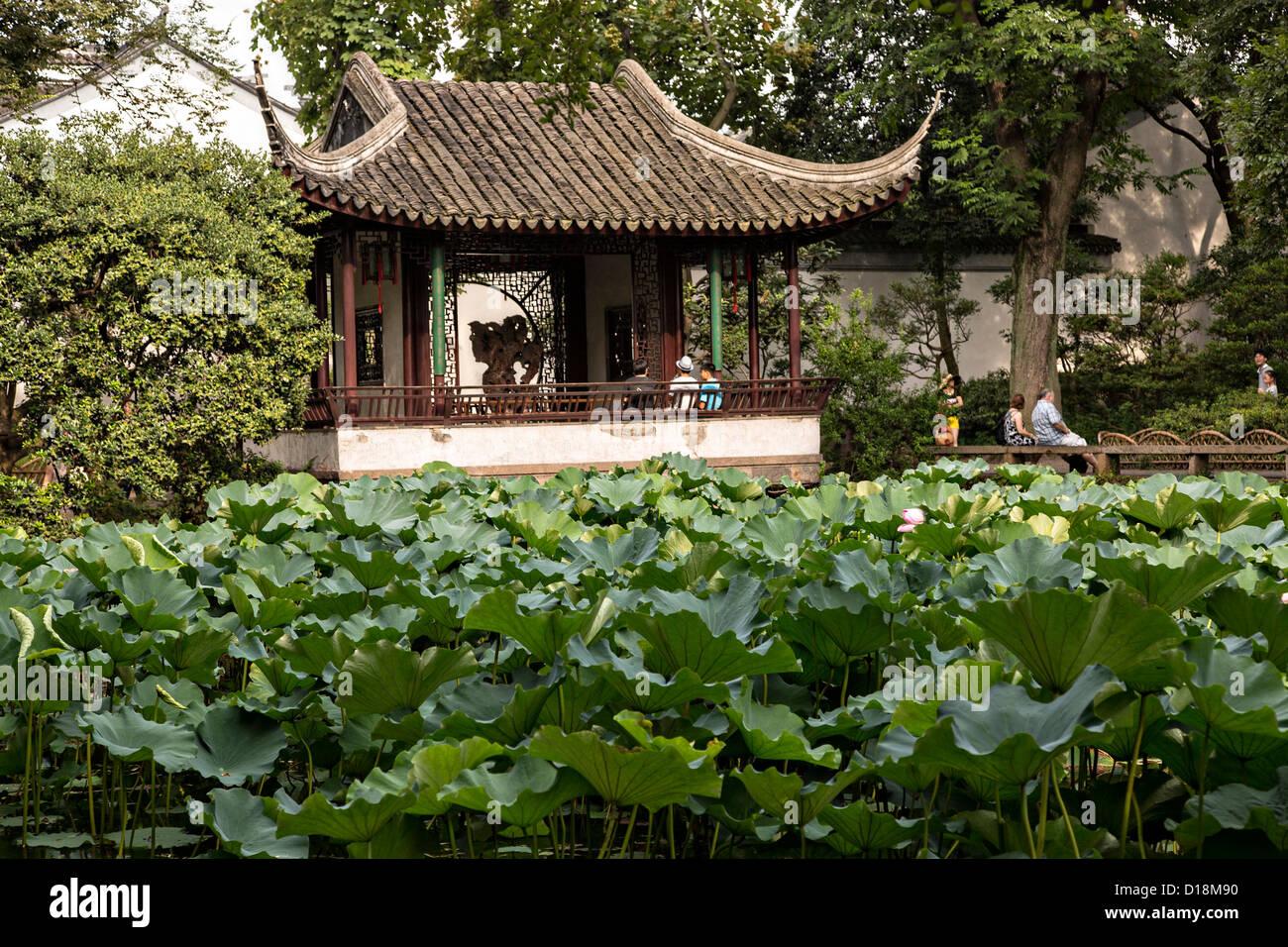 Jardin de l'Humble Administrateur à Suzhou, Chine. Photo Stock