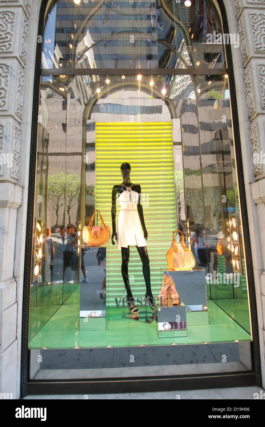 9325160829 Boutique versace à Manhattan, New York City, New York State, USA Photo Stock