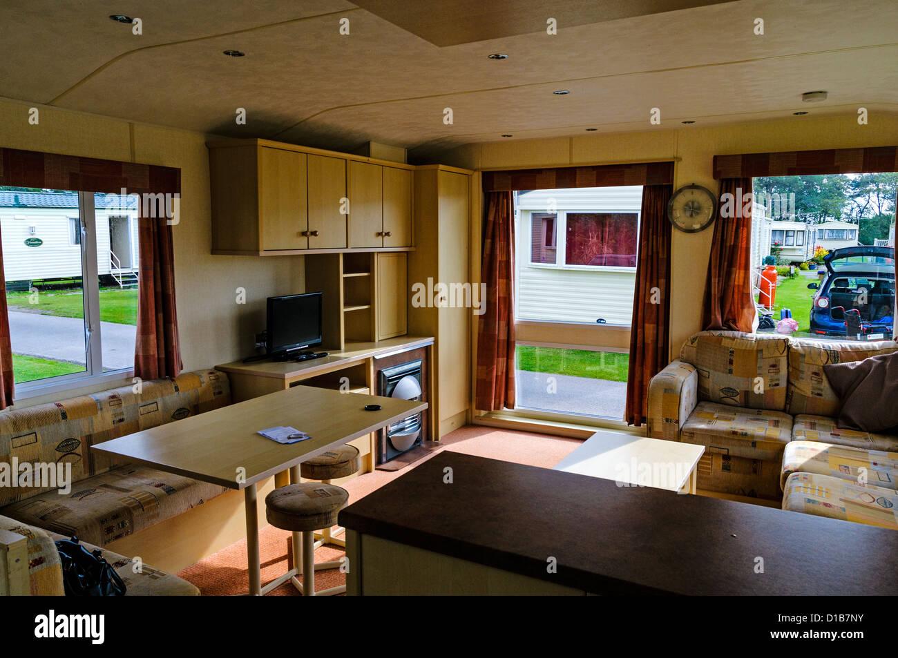 caravan interior photos & caravan interior images - alamy