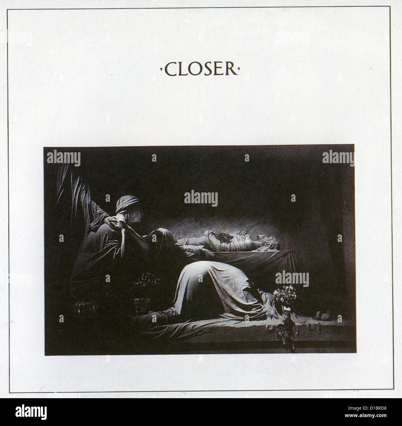 JOY Division de la couverture de leurs 1980 étiquette d'usine plus près de l'album Photo Stock