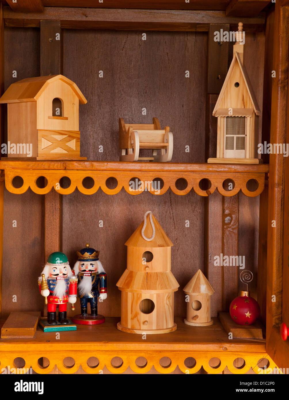 Thème de Noël les jouets en bois Photo Stock
