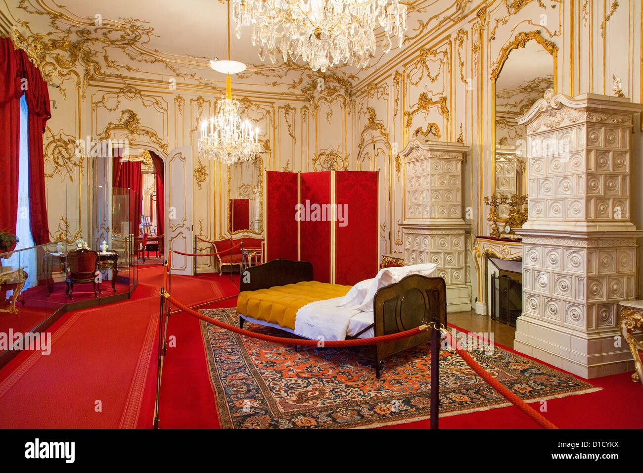 Appartements royal privé dans la Hofburg, Vienne, Autriche Photo Stock