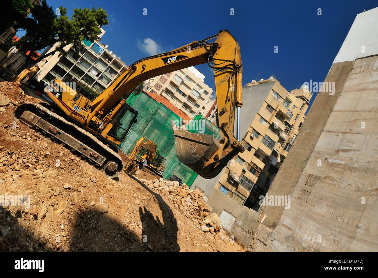 Bâtiments en construction, Beyrouth, Liban Photo Stock