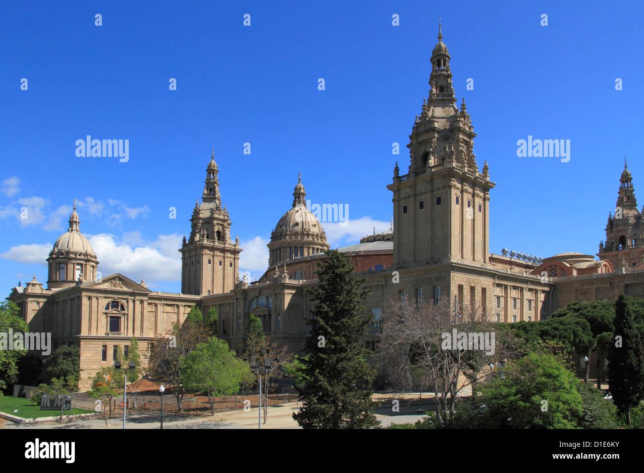 Musée d'Art Catalan, Palais National, Montjuïc, Barcelone, Catalogne, Espagne, Europe Photo Stock