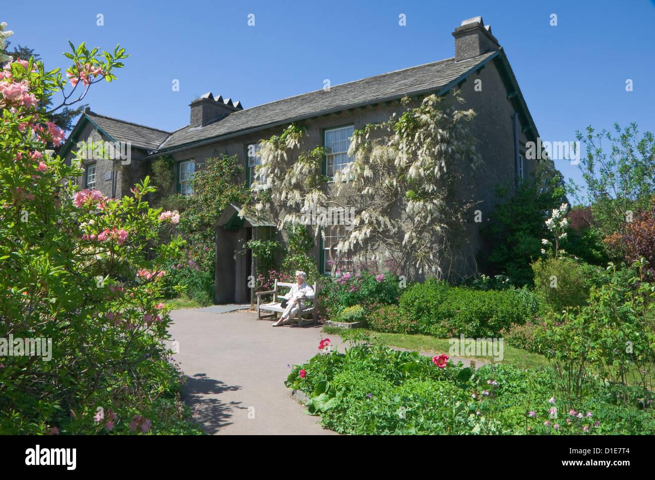 Colline, Sawrey, près de Ambleside, Parc National de Lake District, Cumbria, Angleterre, Royaume-Uni, Europe Photo Stock