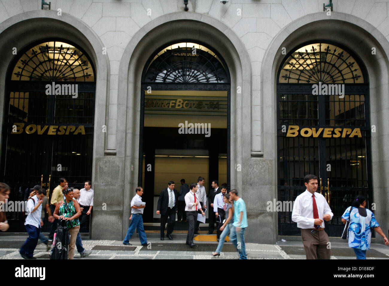 La Bovespa stock exchange, Sao Paulo, Brésil, Amérique du Sud Photo Stock